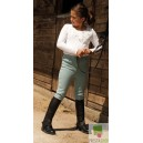 Rhinegold Childrens Leather 1/2 Chaps Black